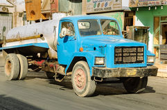 Sewerage truck on street. Hurghada. Egypt Royalty Free Stock Images