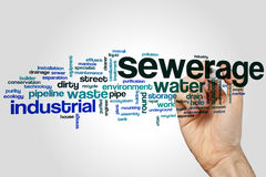 Sewerage word cloud Stock Images