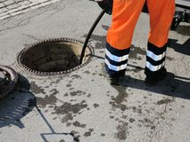 Sewerage worker Stock Photography