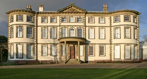 Sewerby Hall. Front view of Sewerby Hall, East Yorkshire, UK Royalty Free Stock Photo