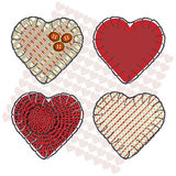 Sewin hearts Stock Images