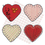 Sewin hearts Royalty Free Stock Images