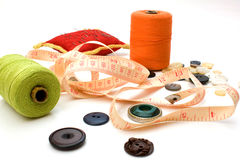 Sewing. Set - needles, threads, buttons Royalty Free Stock Image