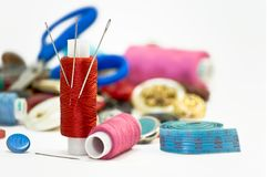Sewing. fotografia de stock