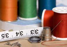 Sewing 2 royalty free stock photos