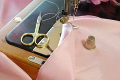 Sewing accesories Royalty Free Stock Images