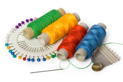 Sewing accessories royalty free stock photos