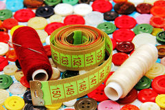 Sewing accessories. Royalty Free Stock Photography