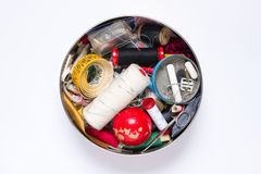 Sewing accessories box Stock Images