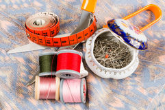 Sewing accessories Stock Images