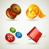 Sewing accessories icons Royalty Free Stock Image