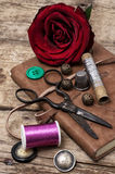Sewing accessories Royalty Free Stock Images