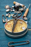 Sewing accessories Stock Image