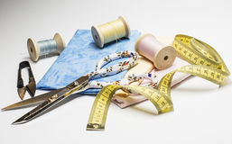 Sewing accessories in pastel Stock Photo