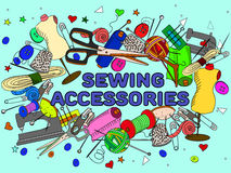 Sewing accessories vector Stock Images