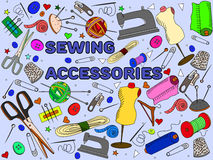 Sewing accessories vector Royalty Free Stock Photos