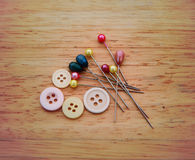 Sewing accessories Stock Photo