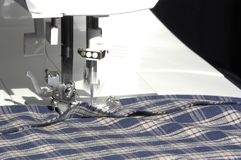 Sewing in Action royalty free stock photo