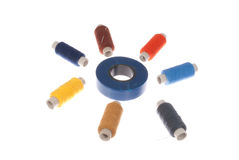 Sewing all sorts and insulation tape Royalty Free Stock Photo