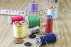 Sewing articles Stock Photo