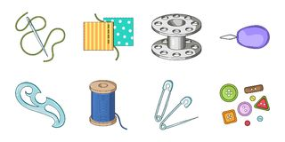 Sewing, atelier icons in set collection for design.   Royalty Free Stock Photo