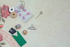 Sewing background Royalty Free Stock Image