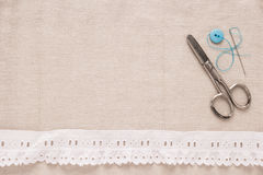 Sewing background Royalty Free Stock Photos