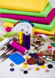 Sewing background Royalty Free Stock Images
