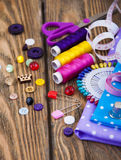 Sewing background Stock Images