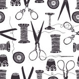 Sewing background Stock Photography
