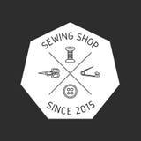 Sewing badge, emblem. Royalty Free Stock Photo