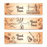Sewing Banners Set Royalty Free Stock Photo