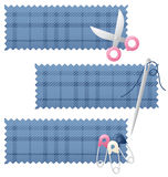 Sewing Banners Stock Photography