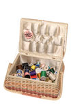 Sewing basket stock image