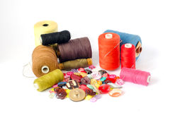 Sewing belongings Royalty Free Stock Photos