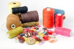 Sewing belongings Stock Photos