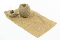 Sewing burlap. Royalty Free Stock Image