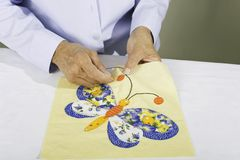 Sewing butterfly Stock Image