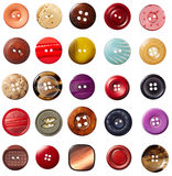 Sewing button clothing Stock Photography