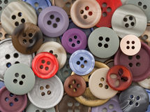 Sewing Buttons. Abstract image of colourful sewing buttons royalty free illustration