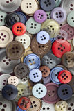 Sewing Buttons. Closeup image of colourful sewing buttons royalty free illustration