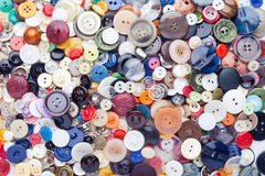 Sewing buttons background Stock Image