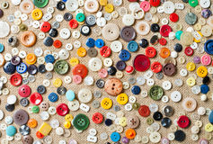 Sewing buttons background. Sewing colorful buttons background. Fashion Royalty Free Stock Image