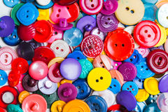 Sewing buttons background Royalty Free Stock Photos