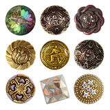 Sewing buttons collection Royalty Free Stock Photography