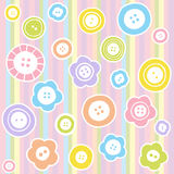 Sewing buttons on fabric background Royalty Free Stock Image