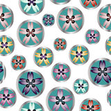 Sewing buttons floral seamless pattern for sewing business Royalty Free Stock Photography