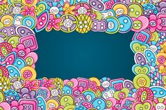 Sewing buttons handmade craft concept. 3d cartoon doodle background design. vector illustration