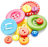 Sewing buttons Royalty Free Stock Photography