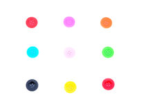 Sewing buttons, Plastic buttons Royalty Free Stock Images